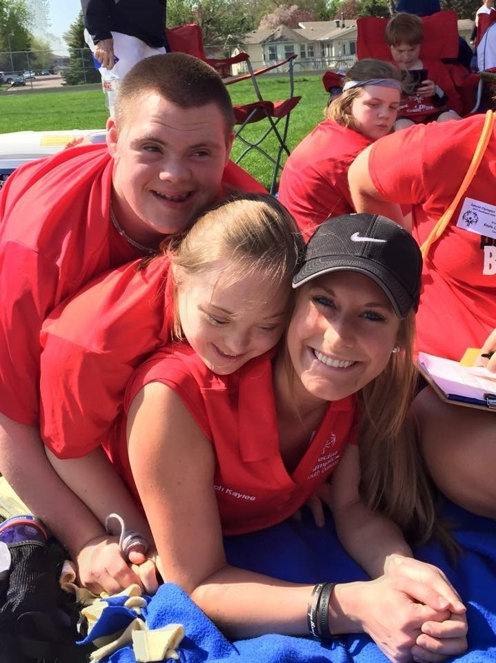 Kaylee Schirado and Special Olympics athletes